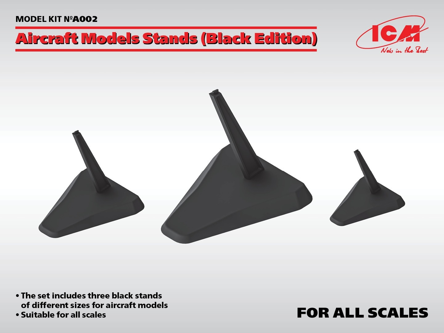 Aircraft Models Stands (Black Edition)